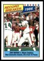 1987 Topps #6 Dan Marino RECORD BREAKER NICE Miami Dolphins / Pitt Panthers