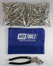 200 3/16 Cleco Sheet Metal Fasteners Plus Cleco Pliers w/Carry Bag (K1S200-3/16)