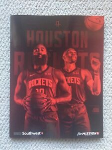 2019-20 Houston Rockets Official Yearbook 2019-2020 James Harden Westbrook