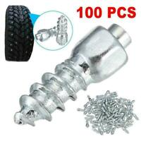 100Pcs 12mm Carbide Screw in Tire Stud Spikes with For Car/Trucks/ATV Body X0O1