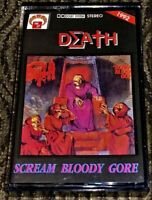 DEATH - Scream Bloody Gore. VG Cassette Tape Plays Well Rare Death Metal MG