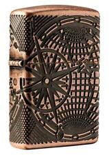 Zippo Armor Windproof Deep Carved World Map Designed Lighter 29853, New In Box