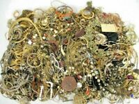 Huge Lot Jewelry Vintage Now Junk Craft Box FULL POUNDS Necklace Brooch Earring