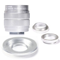 Fujian 35mm f/1.7 CCTV cine lens for M4/3 / MFT Mount Camera&Adapter bundle SILV