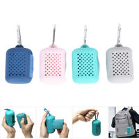 1pc Travel Mini Towel Quick Dry Towel with Silicon Case Tool Sports To 3C