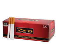 ZEN Red Full Flavor King Size - 5 Boxes - 250 Tubes Box RYO Tobacco Cigarette