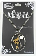 New Disney The Little Mermaid Ariel Cameo Charm Cluster Pendant Necklace