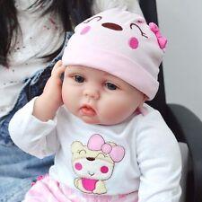 22''Lifelike Baby Newborn Silicone Vinyl Reborn Doll Gift Baby Dolls Handmade