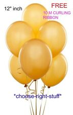 "100 X12"" WHOLESALE Latex HELIUM BALLOONS FREE RIBBON Birthday Wedding Baloons"