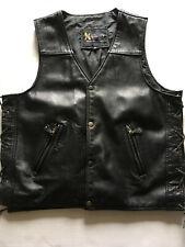 Xelement Men's Genuine Leather Motorcycle Vest Size Medium