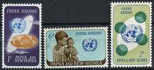 Papua New Guinea 1965 SG#79-81, 20th Anniv Of UNO MNH Set #D23749