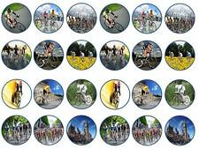 24 cake topper cycling road bike racer bicycle bun fairy cupcake toppers party
