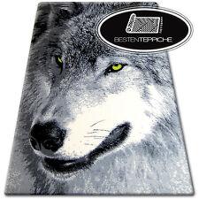 Designer Modern Teppich FLASH Wolf Tiermotive Tier Aufdruck Carpet Designteppich