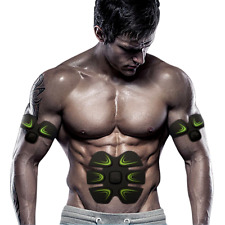 Fat Loss EMS Ab Stimulator Abs Simulator Belt Muscle Toner Abdomen Arm Men Women