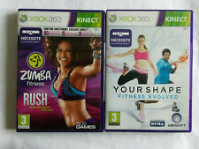 Zumba Fitness Rush + Your Shape Fitness Evolved Xbox 360 Kinect PAL/FR