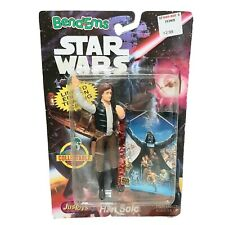 Star Wars Bend Ems Han Solo Figure With Rare Trading Card 1994 New Kay Bee Toys