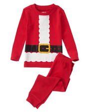 NWT Crazy 8 by Gymboree 2pc Pajamas PJ's Sz: 12 Boy Christmast Santa Suit Red