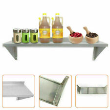 Us 1x Wall Mounted Solid Wall Shelf 12 X 36 Stainless Steel For Restaurant New