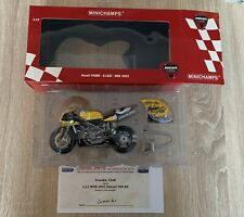 Minichamps 1:12 Scale Ducati 998RS P.Chili WSB 2003 SIGNED