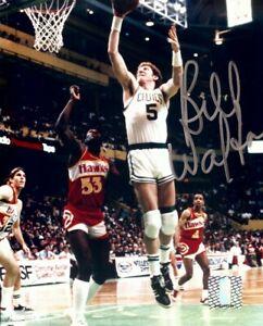 Bill Walton Signed Autographed 8X10 Photo Celtics in Air vs. Hawks w/COA