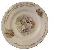 Mrs Tiggy-Winkle - Beartix Potter 18cm Wedgwood china baby plate
