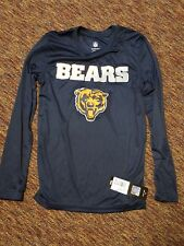 NFL Chicago Bears Boys long sleeve performance T-shirt Medium size 10/12 Blue