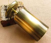 Vintage Light Atomic Mid Centry Retro wall Down Gold Bronze Tone Lamp Fixture AU