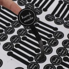 Black 70pcs Hand made Long label Baking DIY Gift Stickers Cake Paper Sticker
