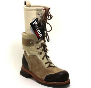 Stiefel Leder Prime Boots Schnürschuhe 20 Loch Worker Country Western 41