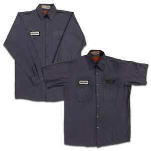 Red Kap Work Shirts 2 Pocket Microcheck Short & Long Sleeve Uniform #CC