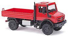 Mercedes-Benz Unimog U 5023 Flatbed 2015 red red 1:87 Busch