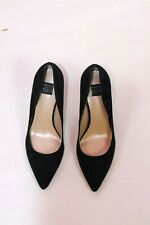 WHITE HOUSE BLACK MARKET BLACK SUEDE POINTED TOE CLASSIC PUMP SIZE 7M