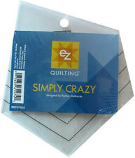 Simplicity EZ Simply Crazy Q39 Acrylic Ruler Quilting Patchwork Sewing Free P&P