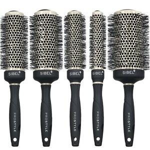 Sibel Professional Round Hair Brush Antistatic & Ceramic Vented Barrel -PROFOLD