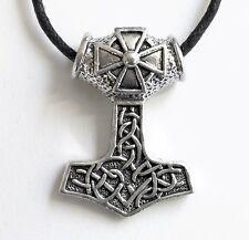 Thors Hammer Eisernes Kreuz Walhalla Odin Wikinger THOR Anhänger Kette Nordland