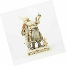 Jim 4058735 Shore Heartwood Creek White Woodland Santa W Birch House Figurine 10