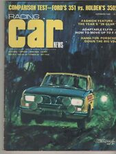 Racing Car News 1969 Sep Holden HT GTS Falcon XW GT Elfin Calder Mini Cooper S B