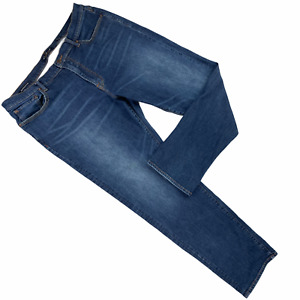 "Lucky Brand 410 Athletic Slim Straight Leg Jeans Men 38 x 32"" Blue Dark Wash"