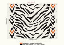 Zebra Stencil Cake Wedding Birthday Decorate Pattern Reusable Template TE499