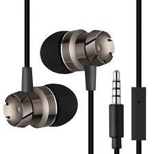 3.5 mm Earphones Metal Stereo Headphones Super Bass Headset Earbuds With Mic