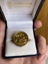 More details for 22ct gold 1894 half sovereign + 9ct ring