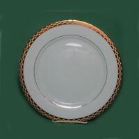 Sango Caroline Porcelain Dinner Plate with Gold Trim 10-3/4 inches Diameter