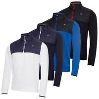 Calvin Klein Mens 2021 Vardon Hybrid Half Zip Breathable Wicking Golf Sweater