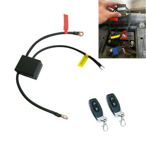Dual Remote Wireless 12V Motorcycle Battery Disconnect CutOff Master Kill Switch