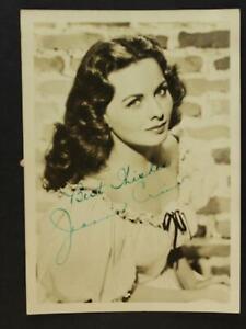 ACTRESS JEANNE CRAIN (1925-2003) (PINKY) AUTOGRAPH 5 x 7 PHOTO~