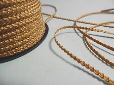 NEW ARRIVAL! KNOBBLY BRAID~2MM~ANTIQUE GOLD~3 YD's~100% RAYON~DOLL TRIM~HATS
