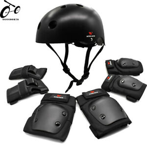 Adult Skateboard Protective Gear Helmet Wrist/Elbow/Knee/Pad BMX Shin Guard