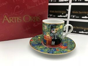 Goebel Rosina Wachtmeister Cup 6 CM + Saucer 11,7 Cm. 1 Choice Boxed