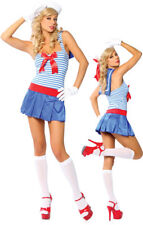 Adult Sexy Sailor Nautical Ship Boat Captain Halloween Party Womens Costume S/M