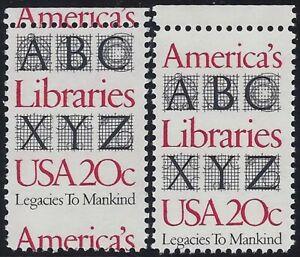 "2015 Top Margin Misperf Error / EFO COD ""America's Libraries"" Mint NH"